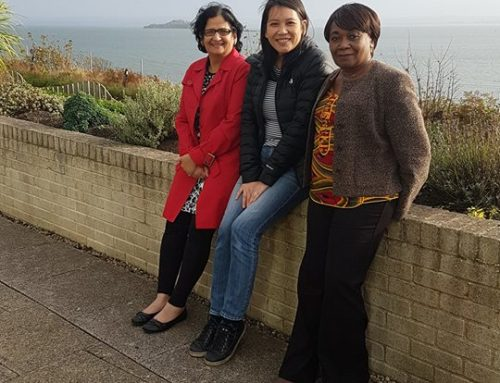 Rohini Sharma, Nina Munday and Harriette Campbell at the W1MEWS Away Day